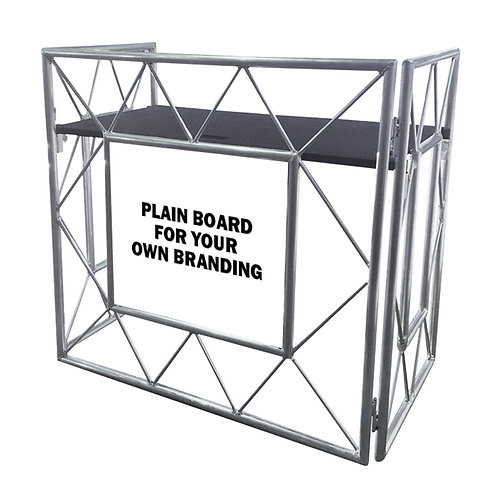 EQUINOX TRUSS BOOTH SYSTEM EQLED150 LIGHTWEIGHT FOLDABLE MOBILE DJ STAND + SHELF