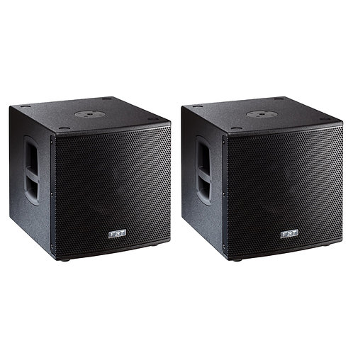 """2x FBT SUBLINE 112SA 12"""" 2800W ACTIVE POWERED PA SUBWOOFER BASS SPEAKER SUB"""