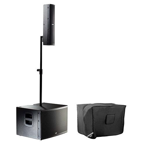 FBT VERTUS CS1000 1000W COMPACT LINE ARRAY SPEAKER + SUBWOOFER SYSTEM + COVER