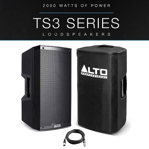 """ALTO TS312 12"""" 2000W POWERED ACTIVE PA SPEAKER STAGE DJ DISCO BAND +COVER +LEAD"""