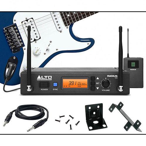 ALTO RADIUS 100M PROFESSIONAL UHF DIVERSITY WIRELESS GUITAR + INSTRUMENT SYSTEM