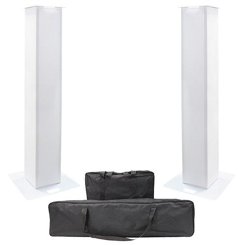 2x EQUINOX 1.5m DJ PLINTH KIT WEDDING DISCO LIGHTING SPEAKER PODIUM STAND + BAGS