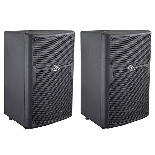 "2x PEAVEY PVX 10 10"" 1600W PASSIVE PA SPEAKER OR FLOOR MONITOR DJ BAND CLUB BAR"