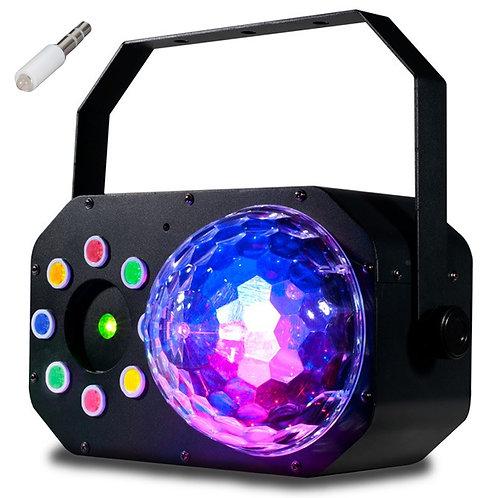 AMERICAN DJ ADJ STINGER STAR 3-IN-1 LED MOONFLOWER + WASH LIGHT +RED GREEN LASER