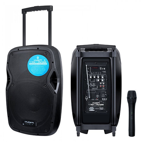 KAM RZ10A V3 PORTABLE 550W BATTERY POWERED PA SPEAKER SYSTEM +BLUETOOTH USB +MIC