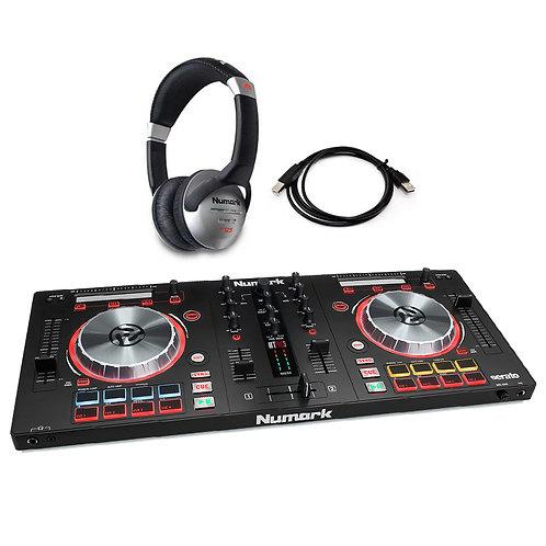 NUMARK MIXTRACK PRO 3 USB MIDI 2-CHANNEL DJ CONTROLLER + SERATO DJ + HEADPHONES