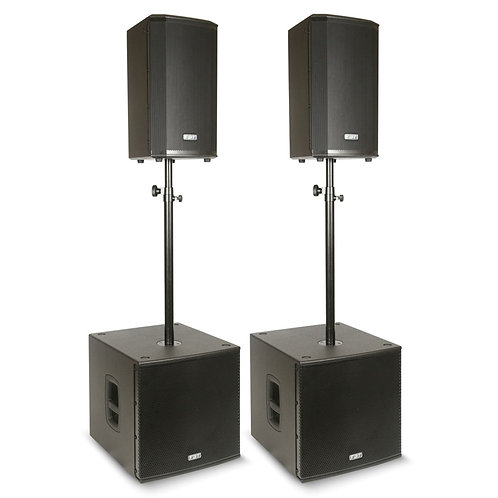 FBT VN3000 2x VENTIS 110A SPEAKER + 2x SUBLINE 115SA SUBWOOFER POWERED PA SYSTEM