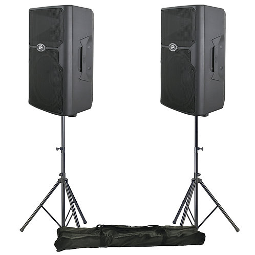 "2x PEAVEY PVX 12 12"" 1600W PASSIVE PA SPEAKER OR MONITOR DJ BAND CLUB + STANDS"