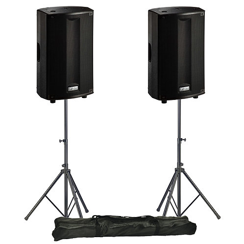 "2x FBT PROMAXX 110A PRO 10"" 3600W POWERED ACTIVE PA SPEAKER DJ DISCO BAND +STAND"