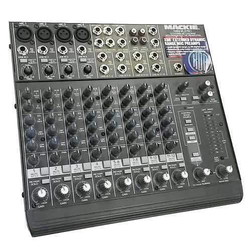 MACKIE 1202-VLZ PRO 12-CHANNEL MIXING DESK LIVE OR STUDIO BAND STAGE MIXER
