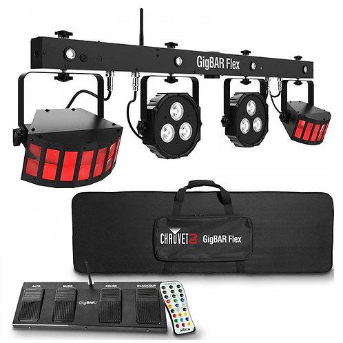 CHAUVET GIGBAR FLEX ALL-IN-ONE LED LIGHTING LIGHT BAR SYSTEM DJ DISCO BAND + BAG