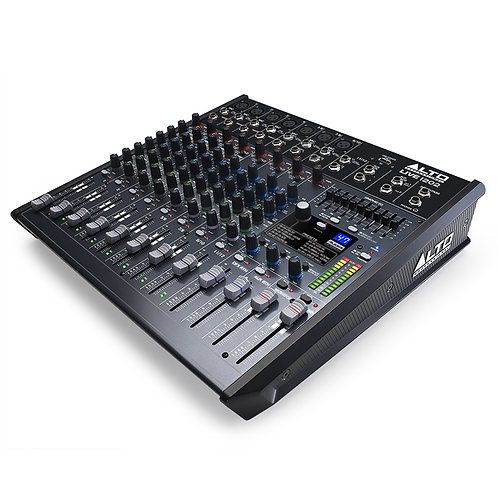 ALTO PROFESSIONAL LIVE 1202 12-CHANNEL 2-BUS USB MIXING DESK + FX HIRE