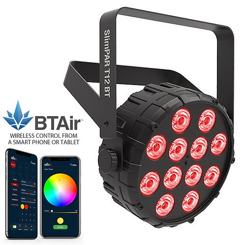 CHAUVET SLIMPAR T12 BT 30W RGB LED PAR CAN WASH LIGHT + WIRELESS LIGHTING APP