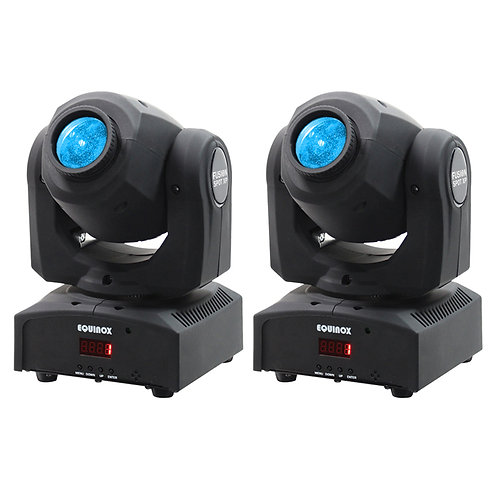 2x EQUINOX FUSION SPOT XP 50W LED MOVING HEAD GOBO SPOT LIGHT DJ DISCO LIGHTING