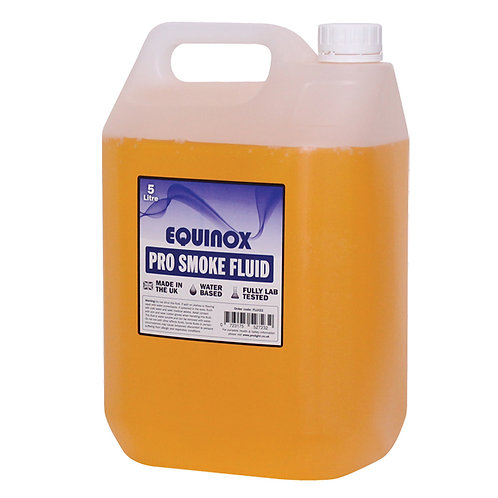 EQUINOX PRO 5L FLUID FOR SMOKE FOG MACHINES DJ BAND THEATRE STAGE - MADE IN UK