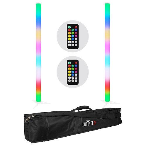 2x EQUINOX PULSE TUBE LITHIUM 1M BATTERY POWERED LED DJ DISCO LIGHT + BAG