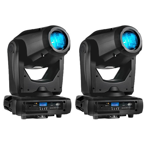 2x AMERICAN DJ ADJ FOCUS SPOT THREE Z 200W LED MOVING HEAD GOBO DJ CLUB LIGHT