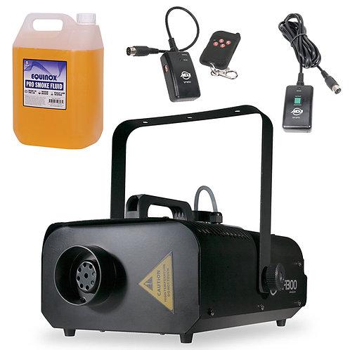 AMERICAN DJ ADJ VF1300 HIGH OUTPUT 1300W SMOKE FOG MACHINE + 2x REMOTE +5L FLUID