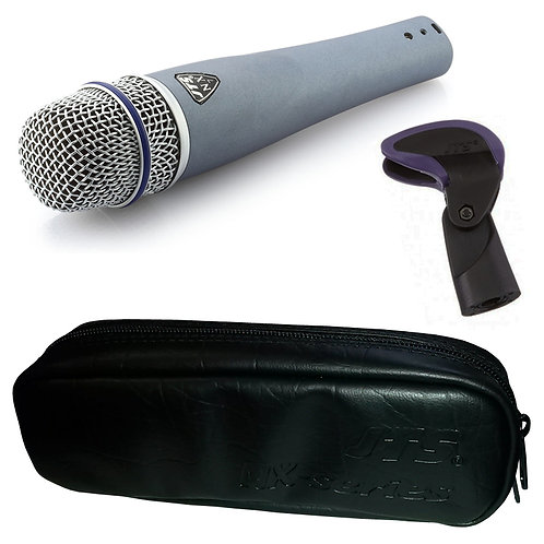 JTS NX-7 HANDHELD DYNAMIC WIRED VOCAL + INSTRUMENT MICROPHONE + MIC CLIP + CASE