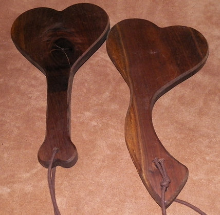 Heart Walnut Paddle