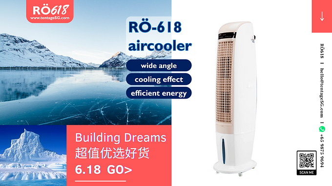 Portable Air Cooler 300W