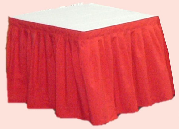 Table Cover - Cloth; Square; Red / White