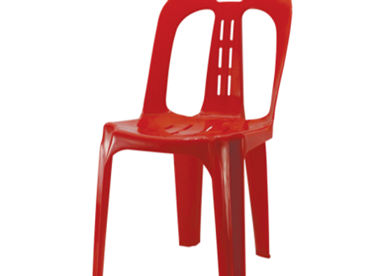 Chairs - Garden - Pvc; Red, 10pcs per set