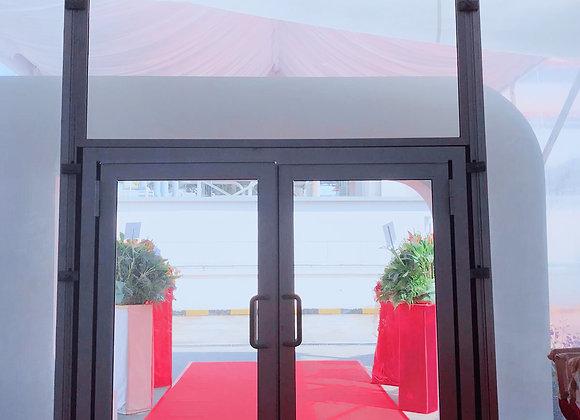 Anc - 6ft Aluminium Double Glass Door