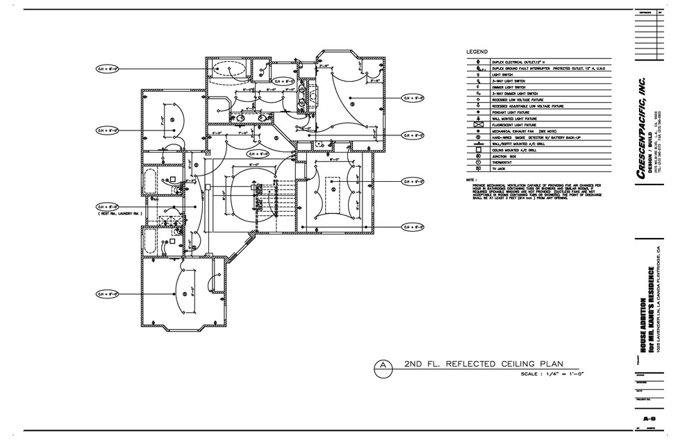 2ND FL. REFLECTED CEILING PLAN