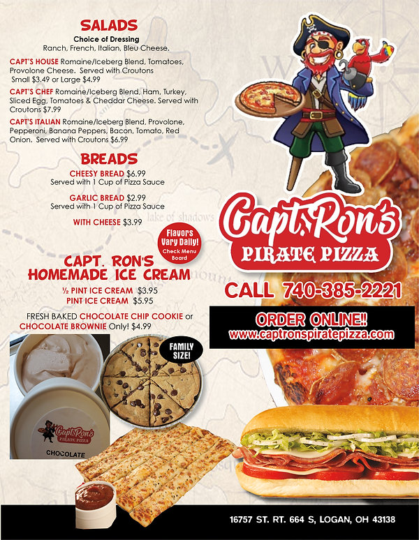 captain rons pirate pizza menu Sept 20 v