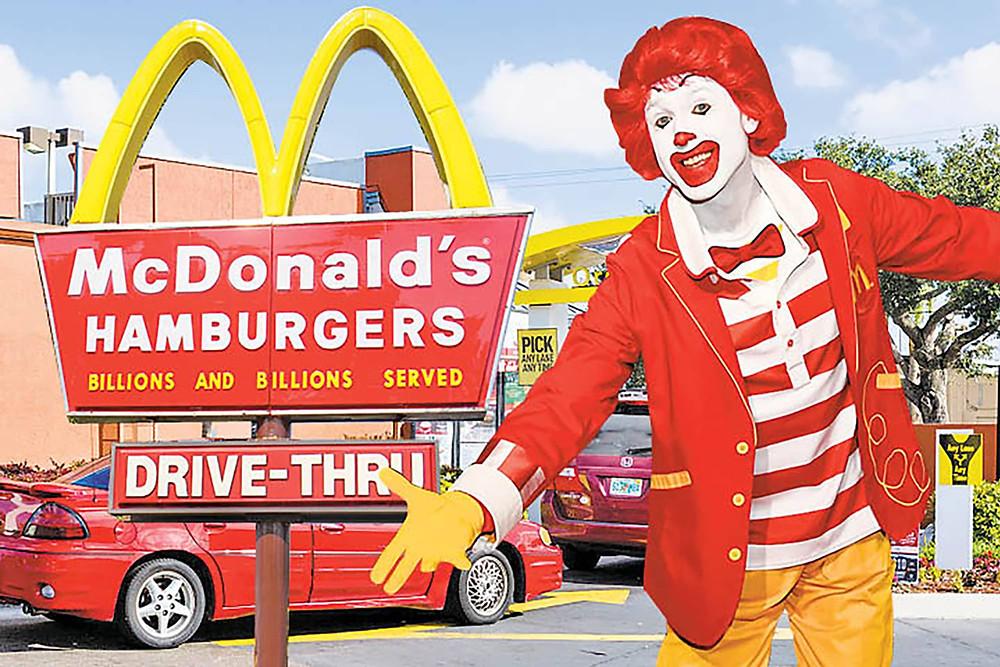 Ronald McDonald's drive thru