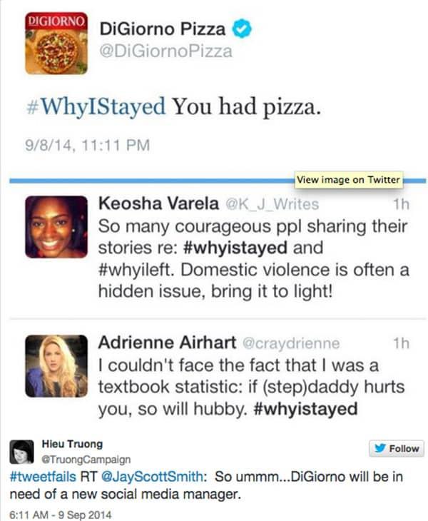 Di Giorno Pizza tweet