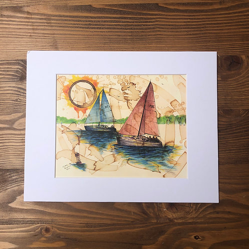Two Sailboats