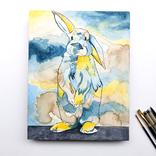 Blue and Yellow Bunny (Original)
