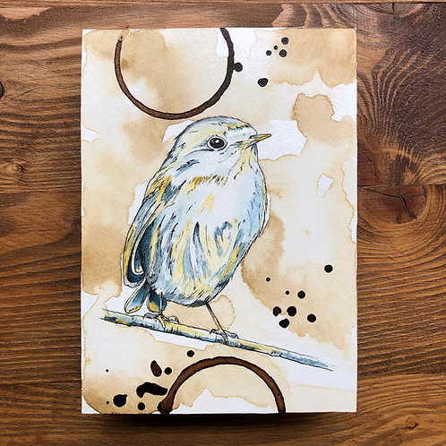 Yellow and Blue Bird (Original)
