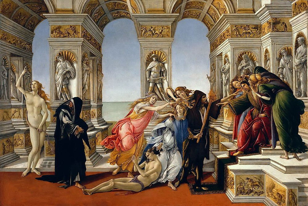 A calúnia de Apelles (1496 - 1497), por Botticelli