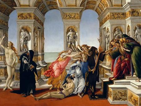 A Calúnia de Apeles, de Sandro Botticelli (1445-1510)