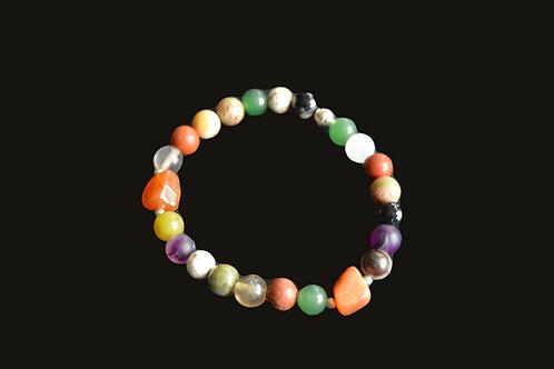 Multi-Mix Gems Bracelet