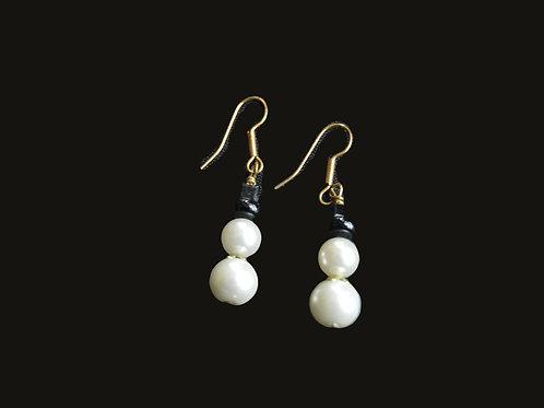 Snowman Glass Bead Earrings