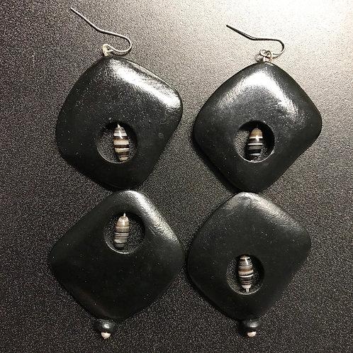 Geometric Shaped Chandelier Earrings