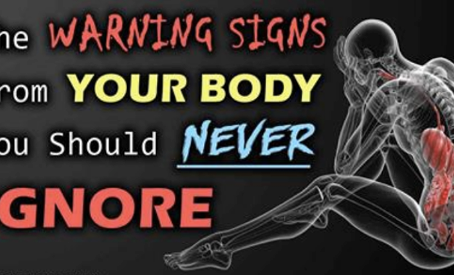 The warning signs from your body that you should never ignore