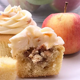 Apple pie stuffed cupcake