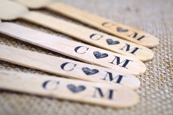 Wooden forks by In the Clear (Etsy)