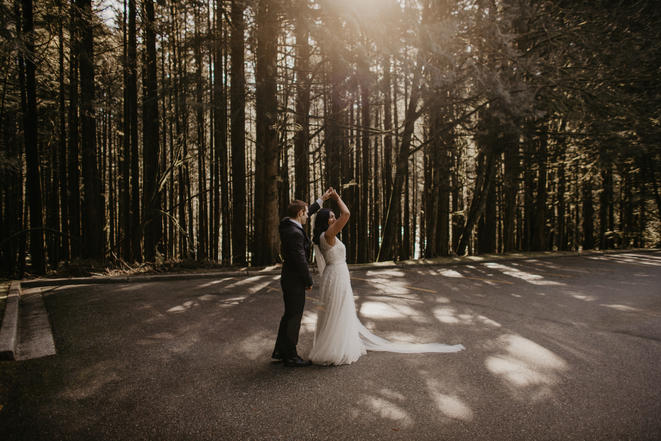 Vancouver Forest Wedding