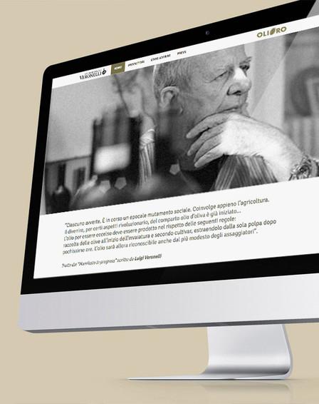Olio secondo Veronelli website