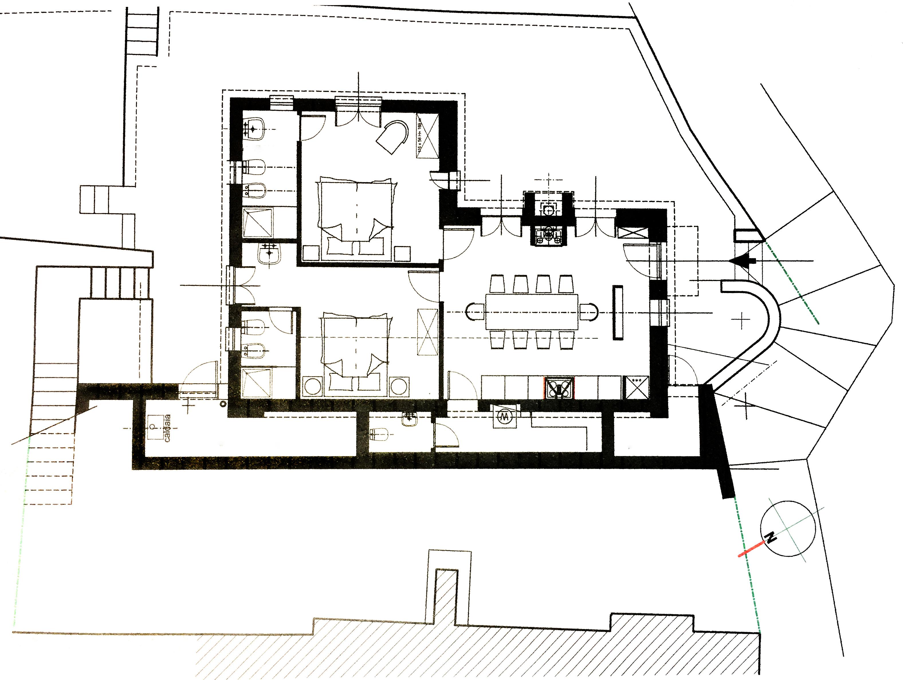 Grundriss Casa Ciappa Ligurien
