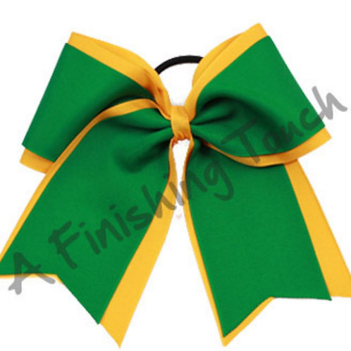 Large Two-Layer Cheer Bow with Short Tails