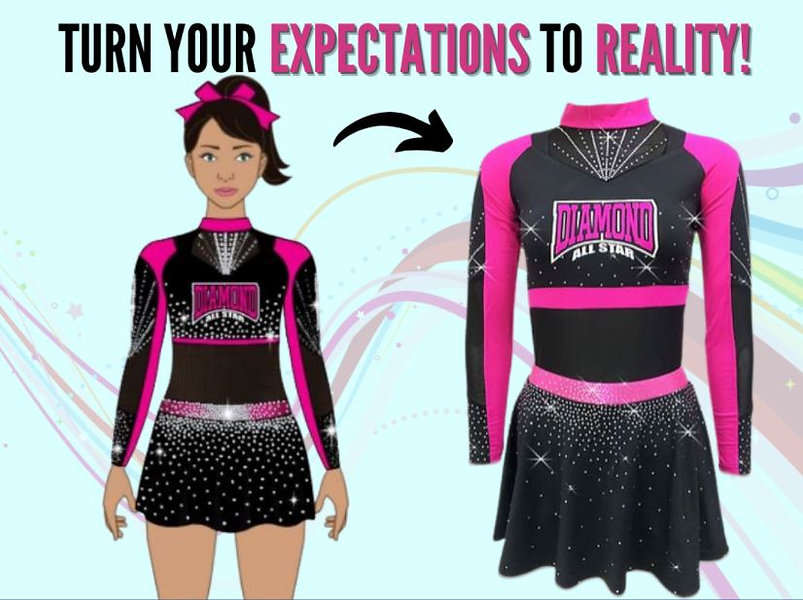 competition cheer uniform art mock up