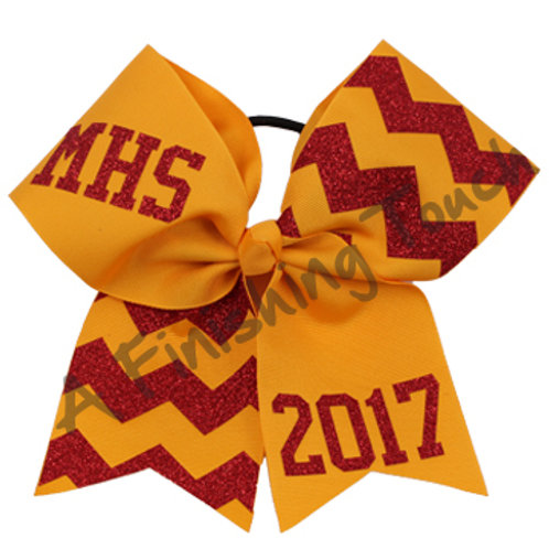 Two Toned Chevron Cheer Bow