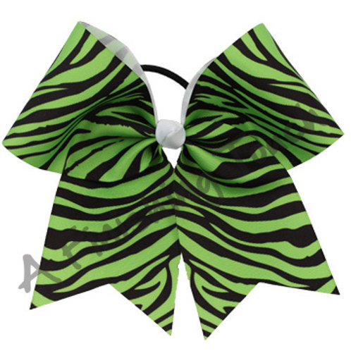 AFT Large Two Color Zebra Cheer Bow